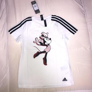 アディダス(adidas)の新品 アディダスTシャツ ミニーマウス ディズニーコラボ サイズ150cm(Tシャツ/カットソー)