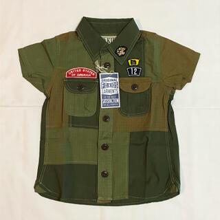 エフオーキッズ(F.O.KIDS)のF.O.KIDS リメイクパッチワークシャツ 100cm(ブラウス)
