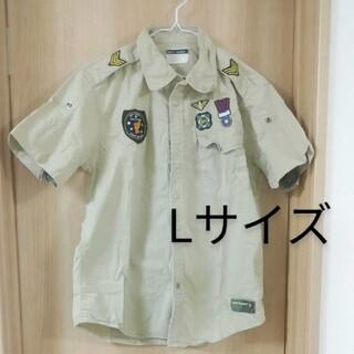 バックナンバー(BACK NUMBER)のレディース メンズ バックナンバー 半袖 L ミリタリー 古着 ワッペン(Tシャツ/カットソー(半袖/袖なし))