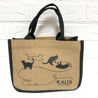 カルディ(KALDI)のカルディ 猫の日麻バッグ&ディーン&デルーカ(ハンドバッグ)
