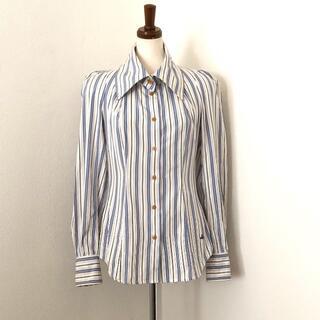 ヴィヴィアンウエストウッド(Vivienne Westwood)のヴィヴィアンウエストウッド ストライプシャツ・ブラウス(シャツ/ブラウス(長袖/七分))