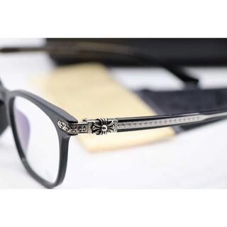 クロムハーツ(Chrome Hearts)の新品 クロムハーツ メガネフレーム 伊達メガネ GISS 黒(サングラス/メガネ)