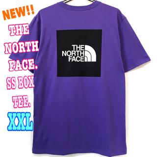 ザノースフェイス(THE NORTH FACE)のレアカラー♪ 新品 ノースフェイス BOX Tシャツ パープル 紫 XXL XL(Tシャツ/カットソー(半袖/袖なし))