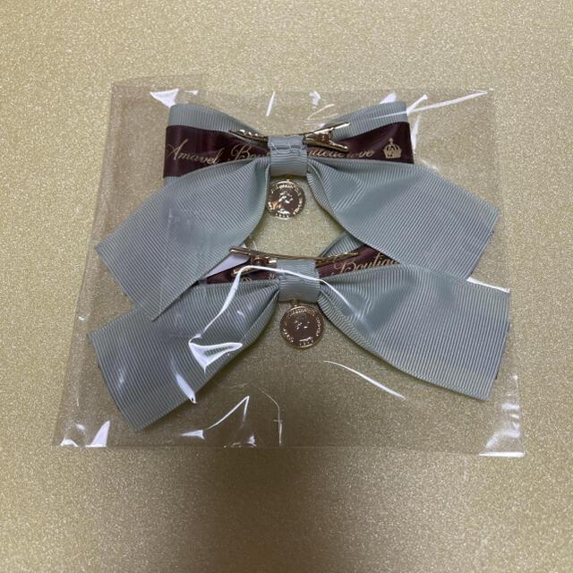 Amavel(アマベル)のリボンヘアクリップ ハンドメイドのアクセサリー(ヘアアクセサリー)の商品写真