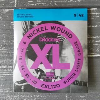 新品 D'Addario ダダリオ エレキギター弦  EXL120(弦)