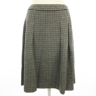 アリスバーリー(Aylesbury)のAylesbury スカート フレア タック ひざ丈 チェック グレー系 11(ひざ丈スカート)
