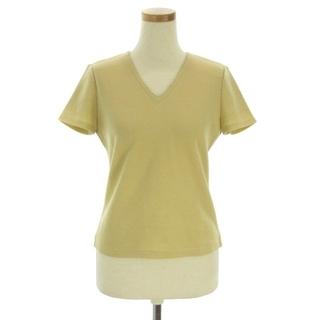 ハロッズ(Harrods)のHarrods ニット セーター 半袖 Vネック パイピング ゴールド ウール (ニット/セーター)