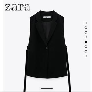 ZARA - 早い物勝ち!お値下げ♪【新品】zara   スリットベスト ジレ