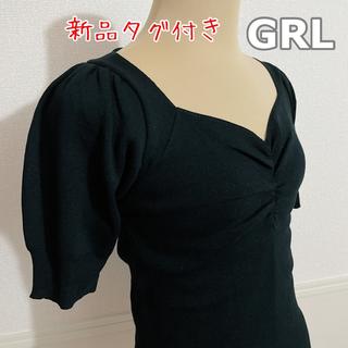 GRL - 新品タグ付き GRL デザイントップス 黒
