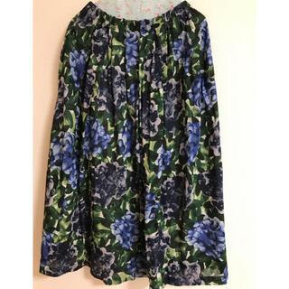 アトリエドゥサボン(l'atelier du savon)のyuni紫陽花柄スカート(ロングスカート)