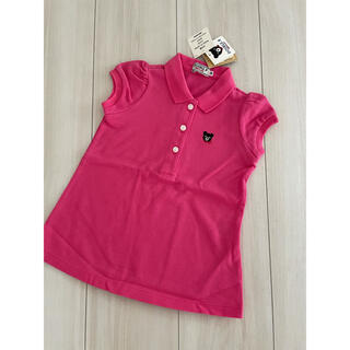 ダブルビー(DOUBLE.B)の【新品】ダブルB ポロシャツ ワンピース ピンク 80cm(ワンピース)
