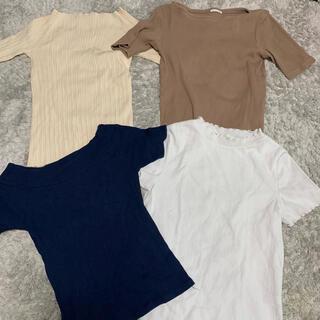 ロペピクニック(Rope' Picnic)の夏物 レディース Tシャツ ニット サイズM L ユニクロ 4まとめ売り(Tシャツ(半袖/袖なし))