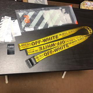 オフホワイト(OFF-WHITE)のoff-white industrial belt yellow オフホワイト(ベルト)