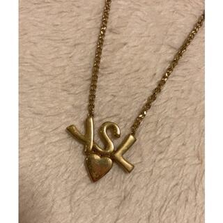イヴサンローランボーテ(Yves Saint Laurent Beaute)のyves saint laurent ロゴ チェーン ネックレス vintage(ネックレス)