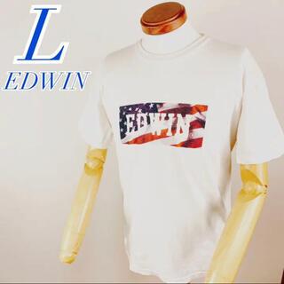 エドウィン(EDWIN)のEDWIN エドウィン プリント USA  アメリカ ホワイト 白 赤タグ(Tシャツ/カットソー(半袖/袖なし))