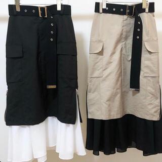 リルリリー(lilLilly)のwhipstaff ベルトスカート(black)(ロングスカート)