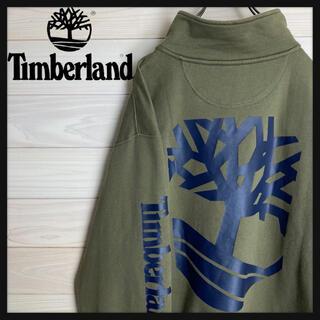 Timberland - 【ビッグシルエット】ティンバーランド☆ハーフジップスウェット バックプリント
