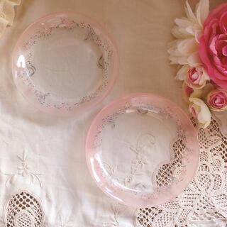 ROYAL ALBERT - ♡イマン♡ローレライプレート2枚セントマニーローズピンク薔薇リボン アンティーク