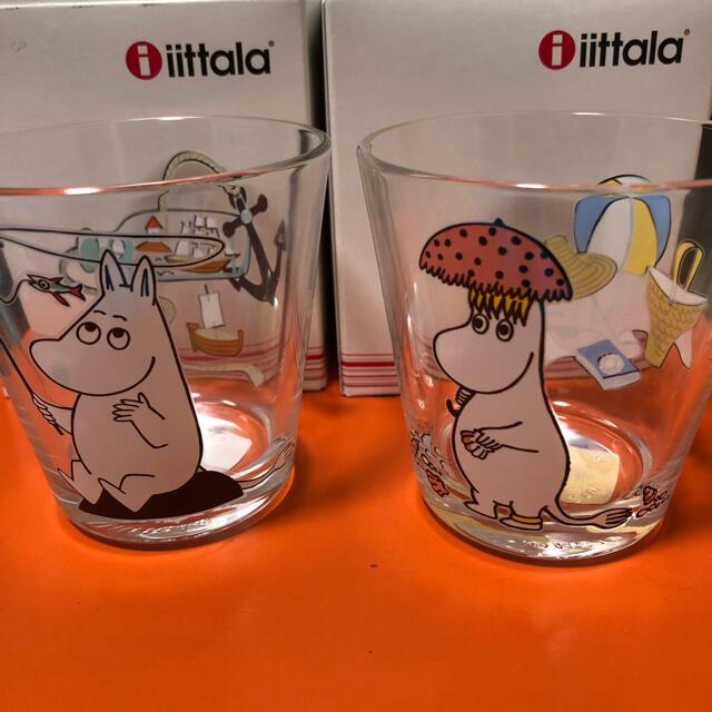 iittala(イッタラ)のイッタラ ムーミン グラス廃盤と御猪口 インテリア/住まい/日用品のキッチン/食器(グラス/カップ)の商品写真