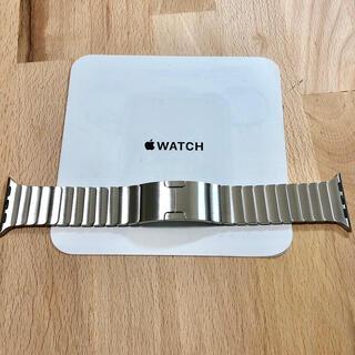 アップル(Apple)の美品 純正 apple watch リンクブレスレット 40mm シルバー(金属ベルト)