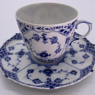 ロイヤルコペンハーゲン(ROYAL COPENHAGEN)のフルレース コーヒーカップ ロイヤルコペンハーゲン ブルーフルーテッド(食器)