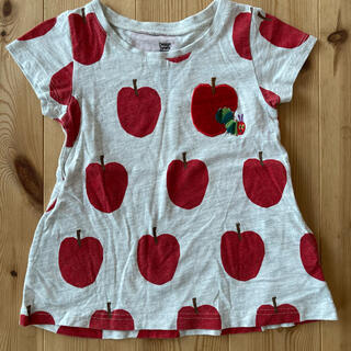 Design Tshirts Store graniph - 90センチ グラニフ はらぺこあおむしりんごワンピース