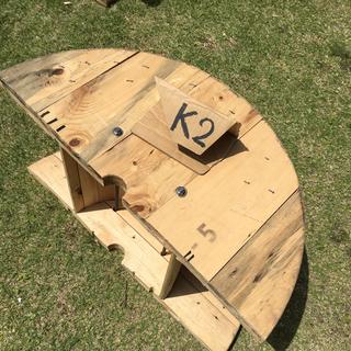 電線ドラム 半円 K2(アウトドアテーブル)