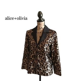 アリスアンドオリビア(Alice+Olivia)のalice+olivia アリス+オリビア ジャケット スパンコール レディース(テーラードジャケット)