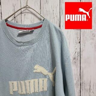 プーマ(PUMA)の90s PUMA スウェット プリント ロゴ トレーナー 古着(スウェット)
