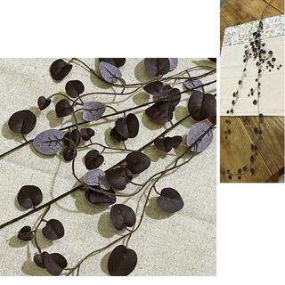新品 ワイヤープランツ チョコブラウン フラワーピック h85cm 造花観葉(その他)