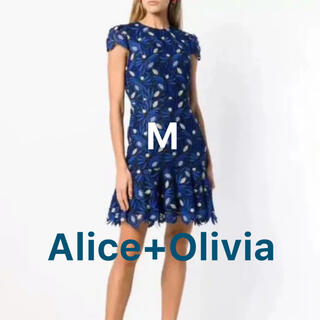 アリスアンドオリビア(Alice+Olivia)のAlice+Olivia(アリスアンドオリビア) ♡ 青ワンピドレス(ミニワンピース)