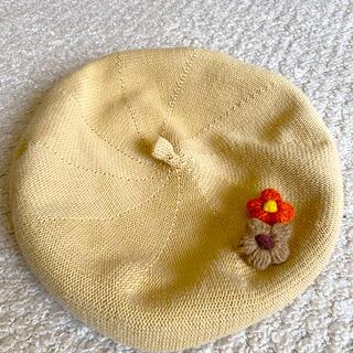 橋下美好h.emuベージュベレー帽(ハンチング/ベレー帽)