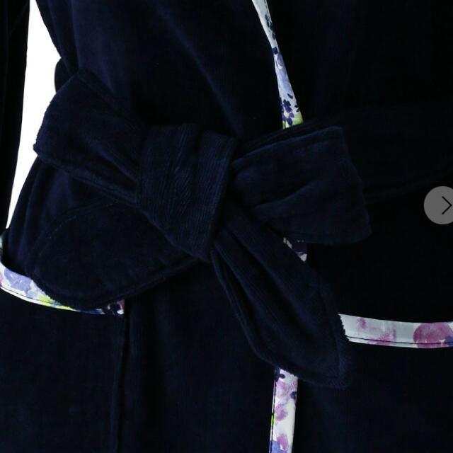 Francfranc(フランフラン)のadamo様専用 フランフラン フルール バスローブ ブルー レディースのルームウェア/パジャマ(ルームウェア)の商品写真