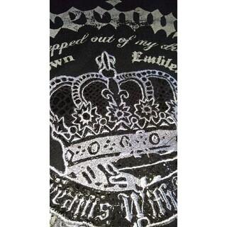 ゴーストオブハーレム(GHOST OF HARLEM)のゴーストオブハーレム 王冠プリント 刺繍 Tシャツ V系 ギャル系 ゴスパン(Tシャツ(長袖/七分))