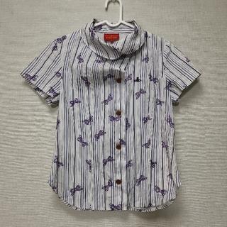 ヴィヴィアンウエストウッド(Vivienne Westwood)のヴィヴィアンウエストウッド ブラウス リボン オーブ 変形襟 (シャツ/ブラウス(半袖/袖なし))