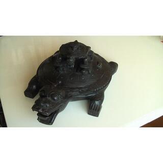 中国国宝級 硯 亀 名家骨董品(彫刻/オブジェ)