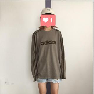 アディダス(adidas)のadidas ロゴスウェット 長袖TEE(Tシャツ/カットソー(七分/長袖))