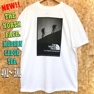 THE NORTH FACE - 超身幅広 ♪ ノースフェイス モダンレッジ Tシャツ 白 4XL 〜  3XL