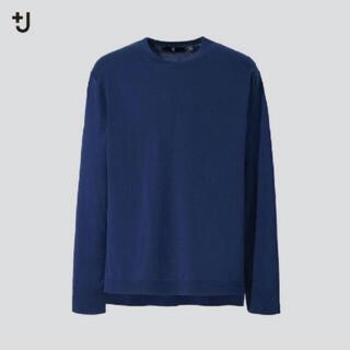 UNIQLO - ユニクロ +J シルクコットンクルーネックセーター ブルー M