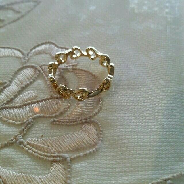 新品!!ハートのエタニティリングゴールド#11 レディースのアクセサリー(リング(指輪))の商品写真