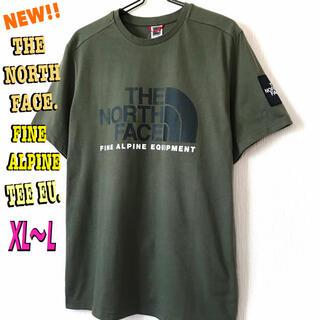 ザノースフェイス(THE NORTH FACE)のモスグリーン♪ノースフェイス ファイン アルパイン Tシャツ EU XL ~(Tシャツ/カットソー(半袖/袖なし))