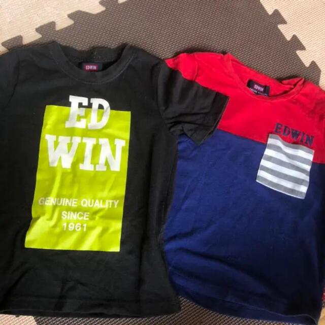 EDWIN(エドウィン)のEDWIN Tシャツ トップス 2枚セット キッズ/ベビー/マタニティのキッズ服男の子用(90cm~)(Tシャツ/カットソー)の商品写真