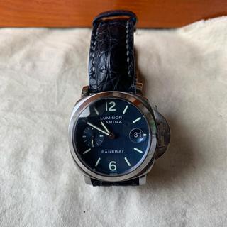 オフィチーネパネライ(OFFICINE PANERAI)のパネライpam00070 ブルー文字盤 美品(腕時計(アナログ))