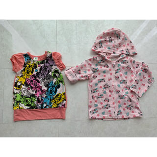 ディズニー(Disney)の夏用パーカー Tシャツ 2点セット 80 95 (Tシャツ)