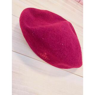 ヴィヴィアンウエストウッド(Vivienne Westwood)のvivienne westwood ヴィヴィアンウエストウッド ベレー帽 赤(ハンチング/ベレー帽)