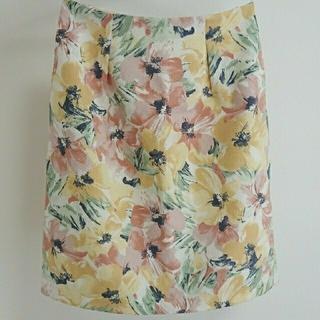 アストリアオディール(ASTORIA ODIER)の花柄スカート(ひざ丈スカート)