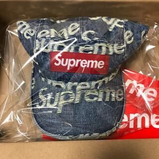 シュプリーム(Supreme)のsupreme Frayed Logos Denim Camp Cap 送料込(キャップ)