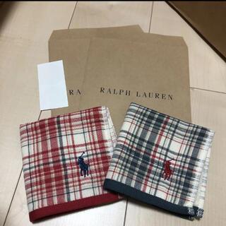 Ralph Lauren - 新品★ラルフローレン  ガーゼハンカチ 2枚セット