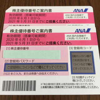 ANA株価優待券 2枚セット(航空券)