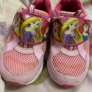 ディズニー(Disney)の【 Disney 女児 靴 18センチ ピンク】 ラプンツェル ベル アリエル(スニーカー)